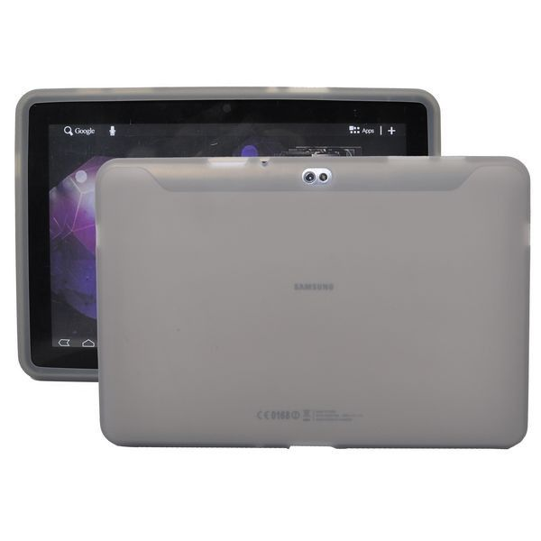 Soft Shell Transparent (Grå) Samsung Galaxy Tab 10.1 P7500 Cover