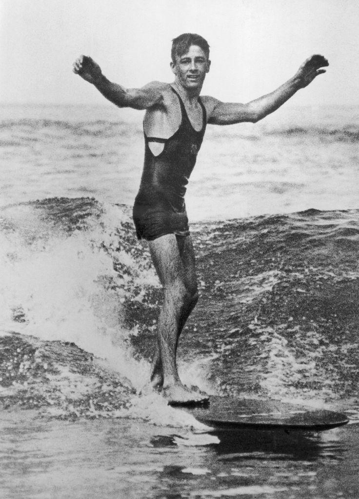 Vintage surfing photo