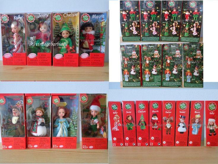 Holiday Christmas Barbie Doll Kelly Club Lot HTF (Set of 8) NEW MIB NRFB #Mattel #DollswithClothingAccessories
