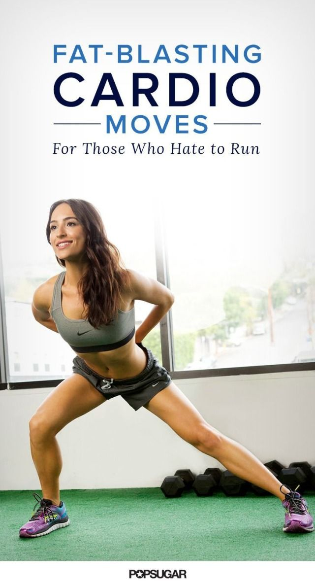 So you hate to run. We get it. But you can still get your heart rate up and burn tons of calories with these cardio focussed bodyweight exercises. Pick a handful and try to do each for a minute.