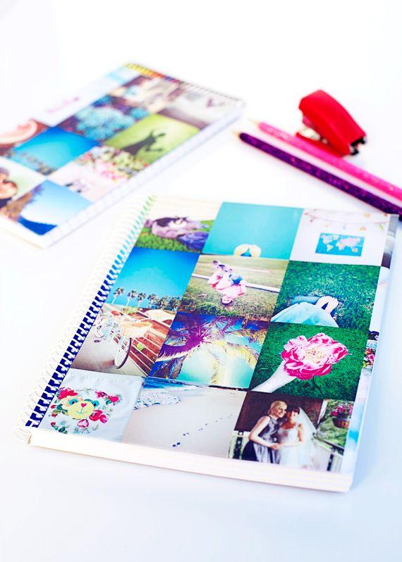 DIY: summer memories school book covers