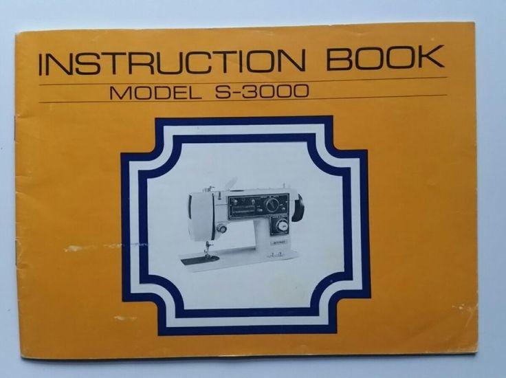 Dressmaker Sewing Machine Model S-3000  Zig Zag Owners Manual Instructions Book #Dressmaker