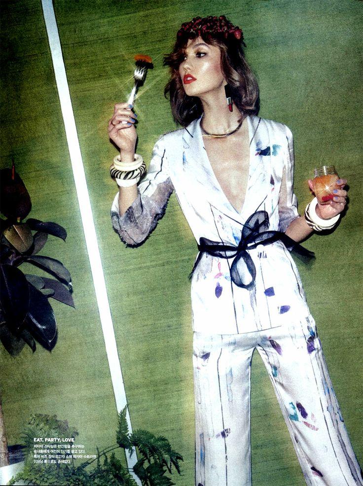 Karlie Kloss in Armani by Sebastian Kim for Vogue Korea May 2014