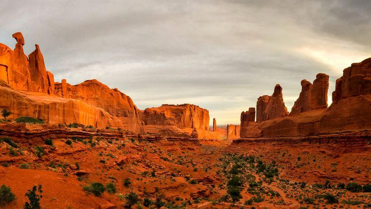 Скачать обои пустыня, скалы, каньон, горы, природа, раздел пейзажи в разрешении 1920x1080