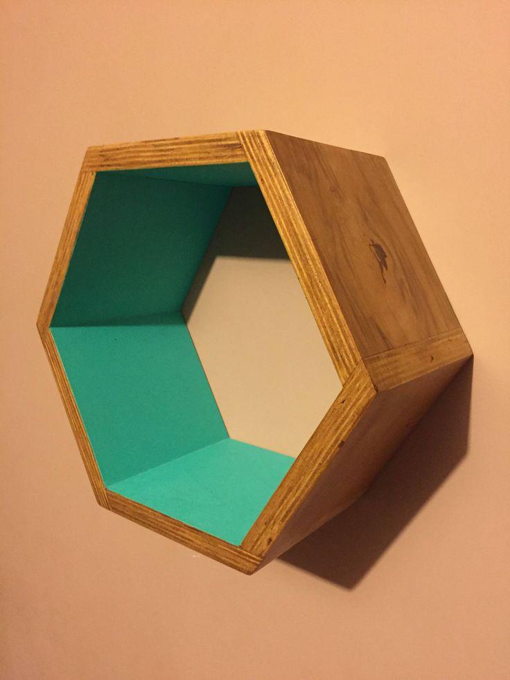Excited to share the latest addition to my #etsy shop: Handmade Hexagon Floating Shelves - Hardwood Plywood - Hand painted - Geometric Shelves http://etsy.me/2D3NkBa #furniture #storage #housewarming #wood #newyears #beige #hexagon #shelf #hexagonshelf