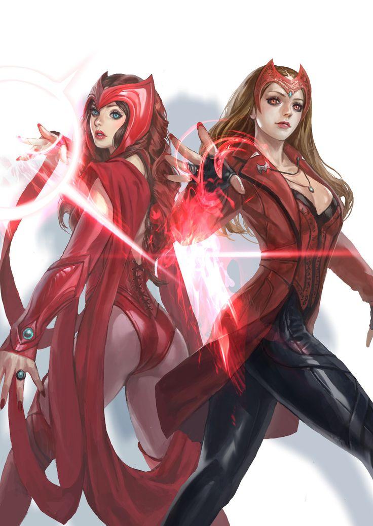 Scarlet Witch , in shoo on ArtStation at https://www.artstation.com/artwork/oo3QO
