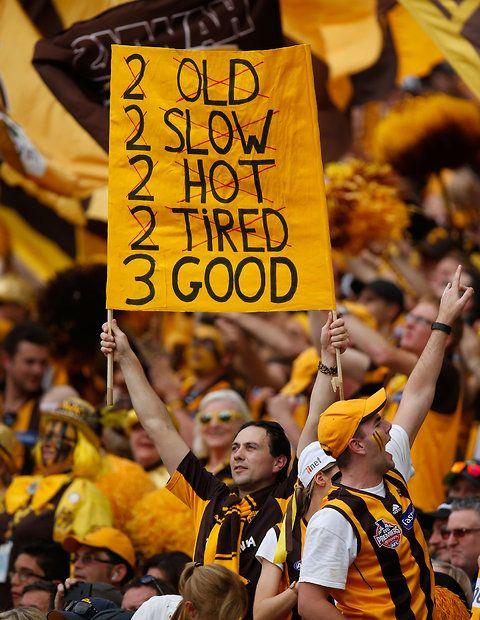 2015 Toyota AFL Grand Final - Hawthorn v West Coast - Hawks fans cheer during the 2015 Toyota AFL Grand Final