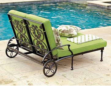 Amalfi Double Chaise traditional outdoor chaise lounges $949