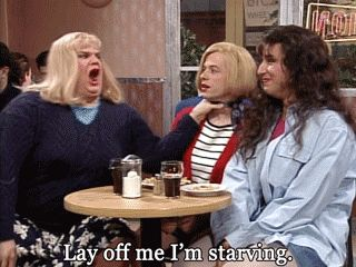 "Chris Farley GIF - ""Lay off me; I'm starving!"""
