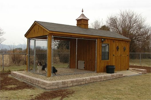 25 best dog kennel designs images on pinterest dog for Dog kennel shed combo plans