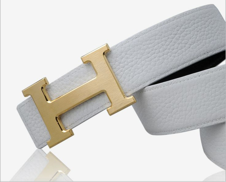 how to tell real ostrich leather - White Hermes h belt with h gold buckle 1:1 designed $99 now ...