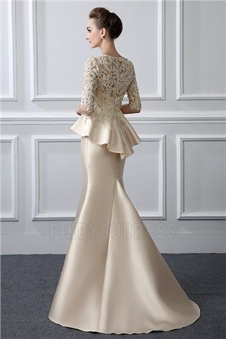 8a95bf6f042f Trumpet Mermaid Jewel Neck Sweep Brush Train Mother of the Bride Dress With  Beading