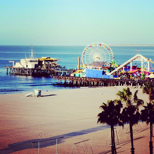 One of the most beautiful places I've seen; Santa Monica Pier, California.