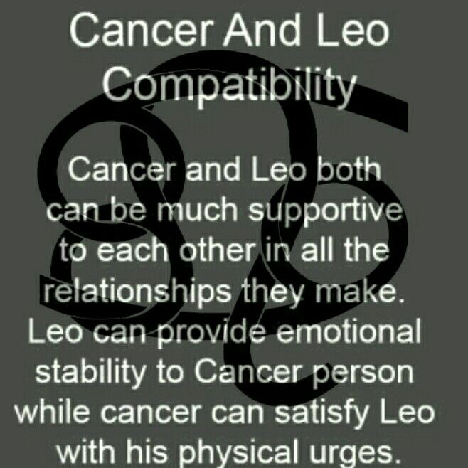 cancer and leos in a relationship