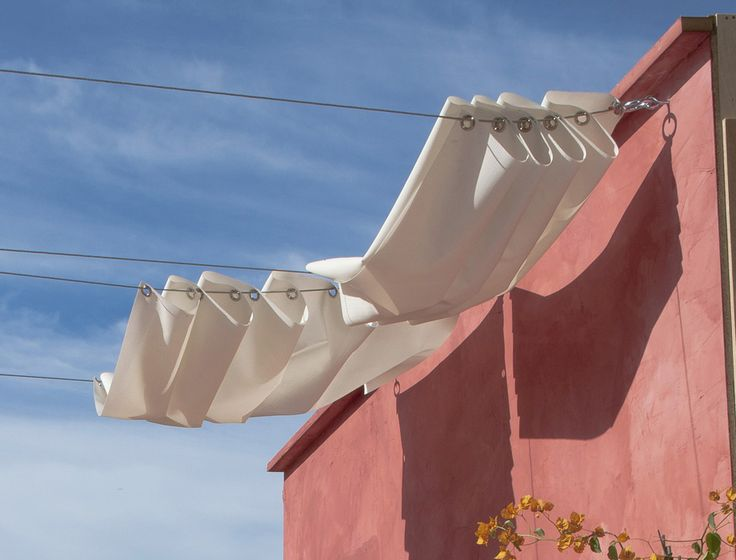 OMG-I could do this over a portion of my patio using my clothes lines already in place-yea!!