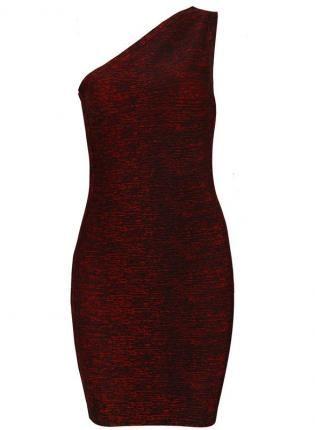 Red One Sholder Sexy Bandage Dress,  Dress, bandage bodycon women evening, Chic
