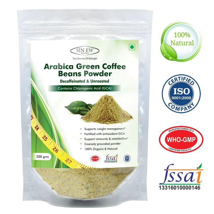 Buy sinew nutrition arabica green coffee beans powder