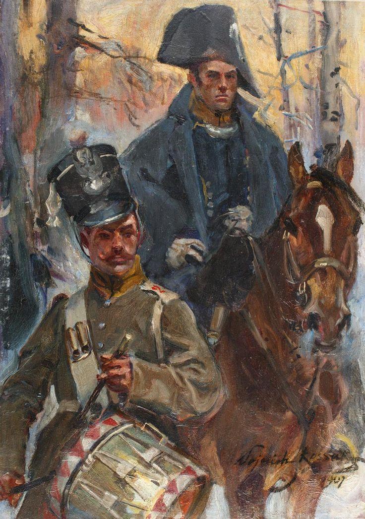 WOJCIECH KOSSAK (1856 - 1942)  FRAGMENT OLSZYNKI GROCHOWSKIEJ   olej, dykta; / 46,5 x 33 cm