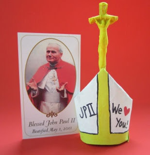Pope John Paul II Mitre Craft for Catholic Kids (several kinds to choose from)
