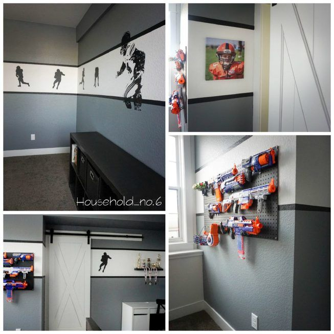 Football Themed Bedroom Glamorous 44 Best Boys Football Themed Bedroom Images On Pinterest  Bedroom Inspiration Design