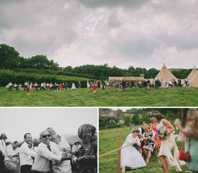 Idea para amenizar una boda informal, al airr libre y divertida!