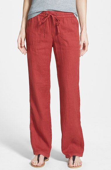 Caslon® Drawstring Linen Pants (Regular & Petite) available at #Nordstrom