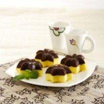 CAKE KUKUS LABU KUNING LAPIS COKELAT