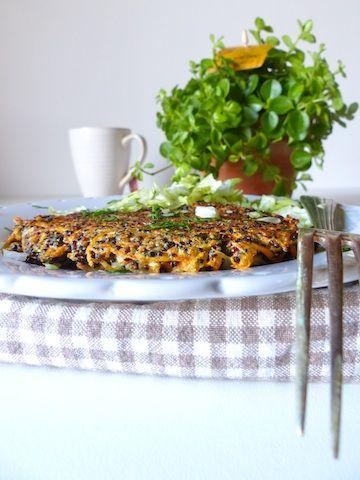 Je+suis+particulièrement+fan+de+ces+galettes+de+quinoa.+Vite+préparées,+vite+réchauffées+pour+manger+sur+le+pouce.
