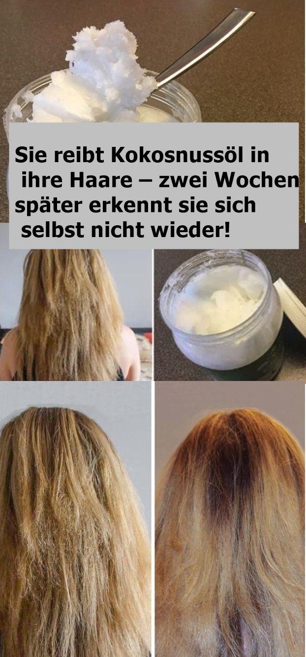 Bildergebnis für Sie reibt Kokosnussöl in ihre Haare – zwei Wochen später erkennt sie sich selbst nicht wieder!