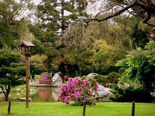 Barrio de Palermo: Jardín Japones.-