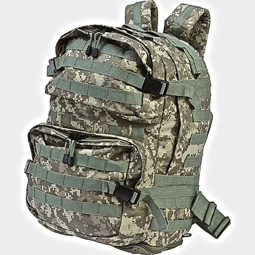 Military Digital Camo Backpack Becomes Expandable For Extra Large Gear