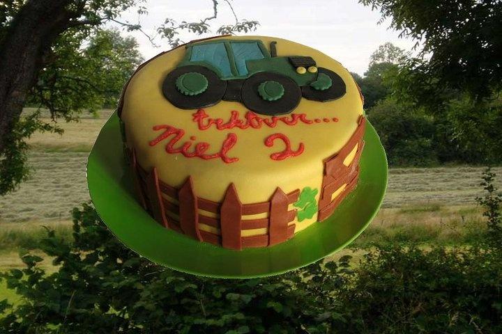 birthday cake, farmer theme. Made by AMBD