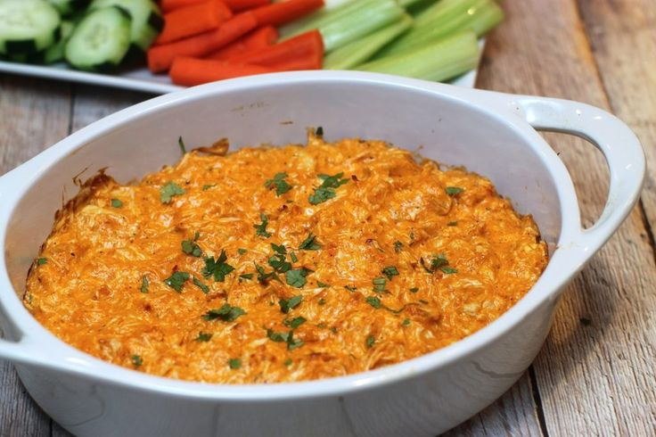 3-Ingredient Buffalo Chicken Dip (whole30 gameday)