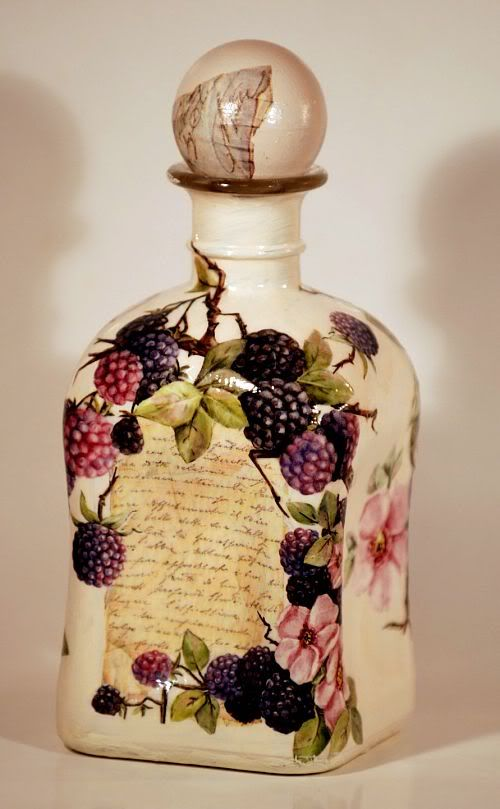#decoupage #DIY #bottle #vintage
