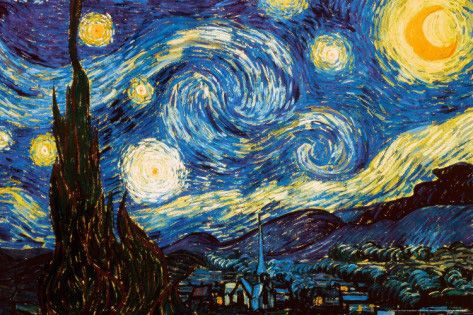 Starry Night - by Vincent van Gogh - c1889 - http://www.voteupimages.com/?p=431