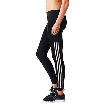 Rebel Sport - adidas Womens Workout 3 Stripe Tight