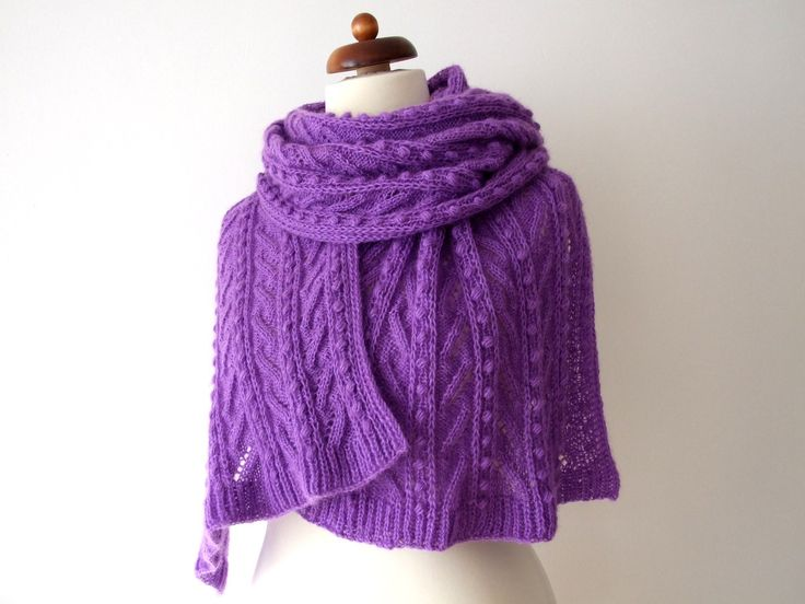 New at my #etsy shop: ultraviolet scarf, #handknit wrap http://etsy.me/2FXF46G #accessories #shawl #ultraviolet #birthday #ultravioletscarf #ultravioletwrap #knitvioletscarf #scarfknit #wedding