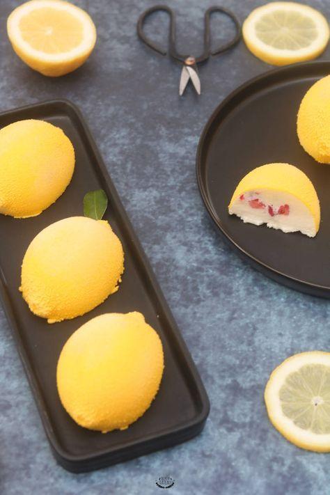 Citrons Fruits Rouges Recette Entremets Bavarois Citron