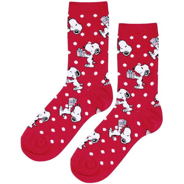 TOPSHOP Snoopy Christmas Ankle Socks ($6) ❤ liked on Polyvore featuring intimates, hosiery, socks, red, tennis socks, cotton ankle socks, short socks, red cotton socks and topshop