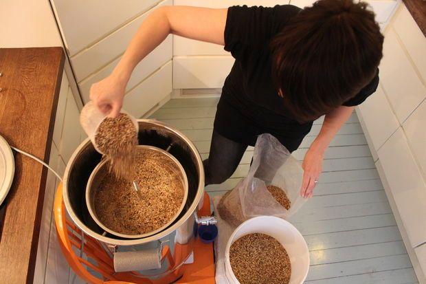 Hjemmebrygget øl, MALT: Has i gryten eller bryggemaskinen.