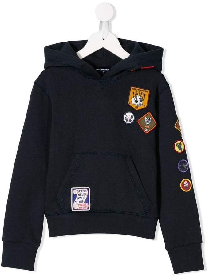 Dsquared2 Scout Patch Hoodie Sponsored Spon Scout Hoodie