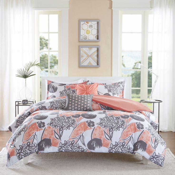 Intelligent Design Lily Coral Comforter Set | Overstock.com Shopping - The Best Deals on Teen Comforter Sets