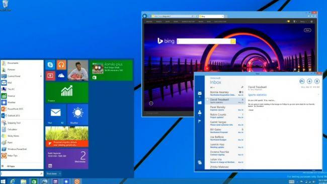 Menú de inicio de Windows 8, y aplicaciones en ventanas --> Novedad