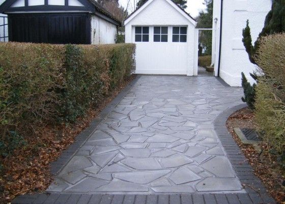 This Polished stone finish on this driveway makes the finish on this extra special.