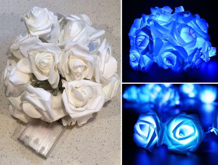 2m LED Rose Light String - Blue