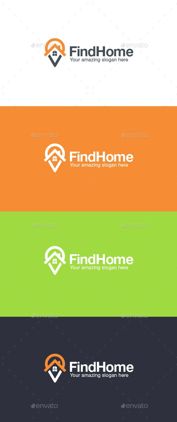 Home Finder Logo Template — Vector EPS #internet #visual • Available here → https://graphicriver.net/item/home-finder-logo-template/14908990?ref=pxcr