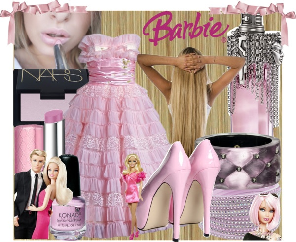 """Barbie Halloween Costume"" by doilygirl ❤ liked on Polyvore"