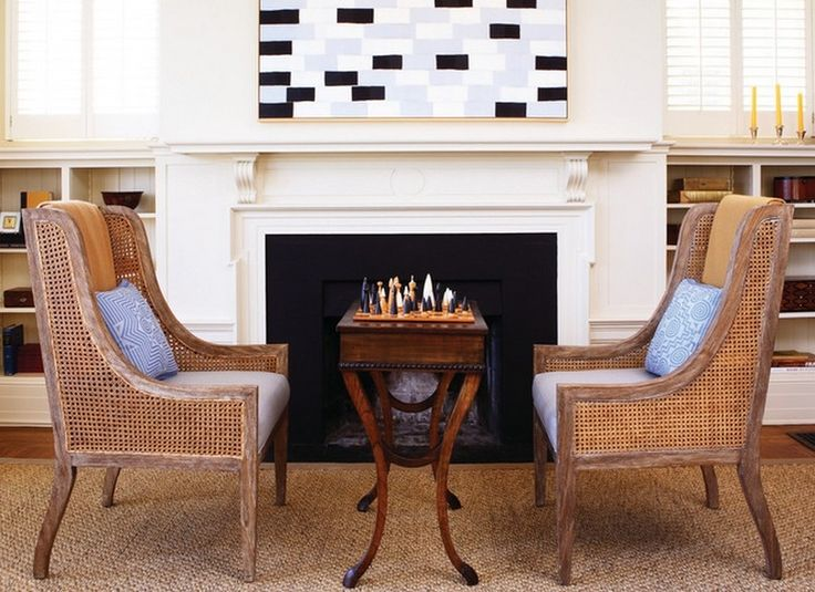 Modern Game Table In Front Of Fireplace | NYTexas