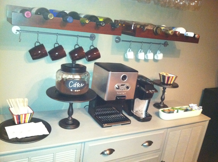 My home coffee bar station for the home pinterest for Home bar station