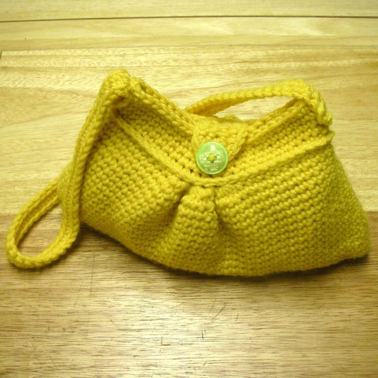 Crochet Pattern - Easy Pleated Bag {Hooked} Pinterest